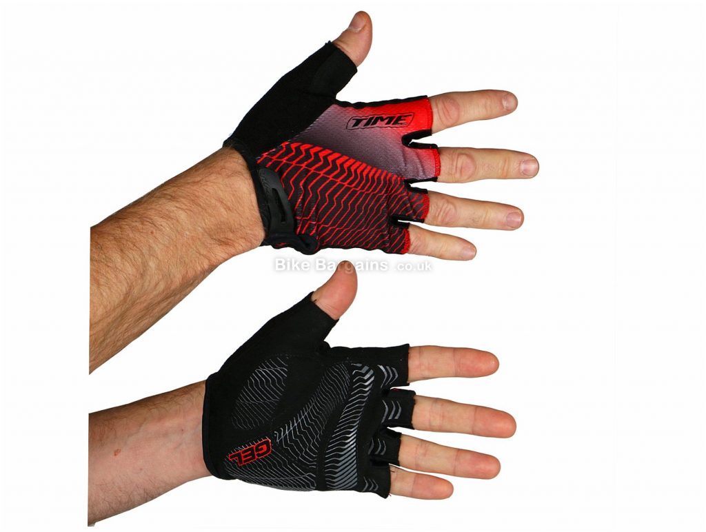 Time Performance Mitts XL, Black, Red
