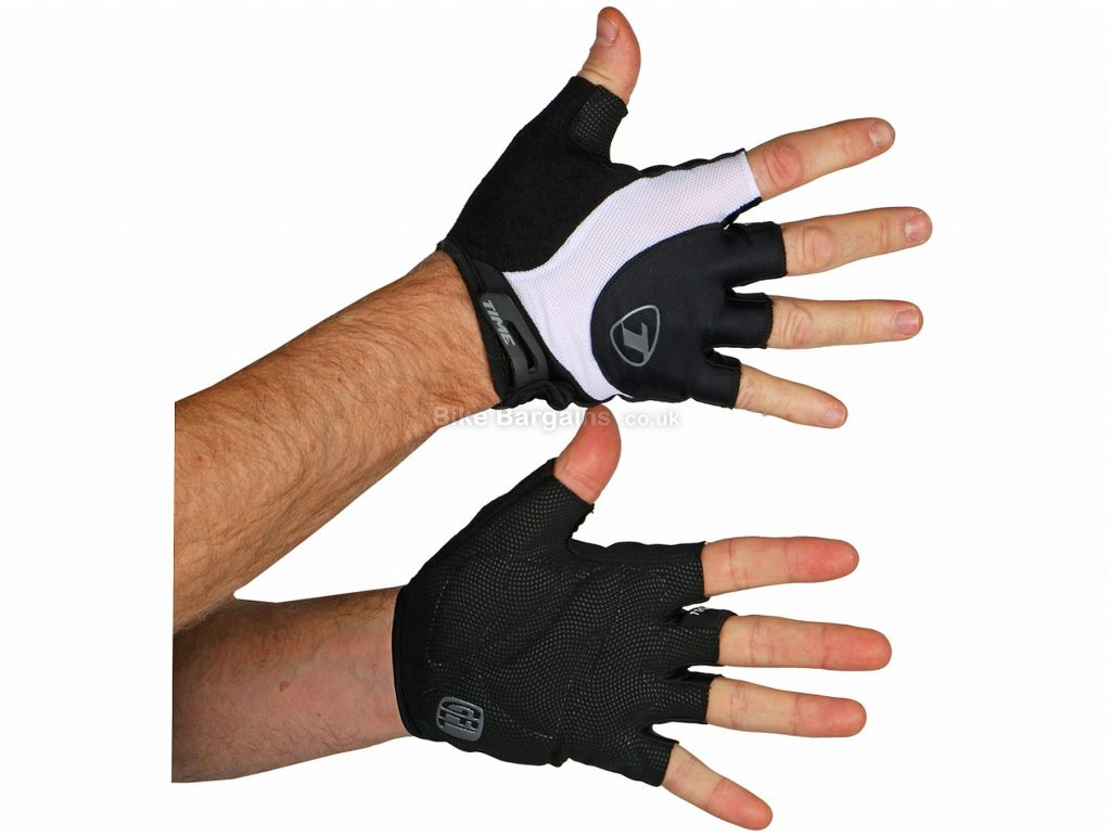 Time Racing Mitts XL, Black, White