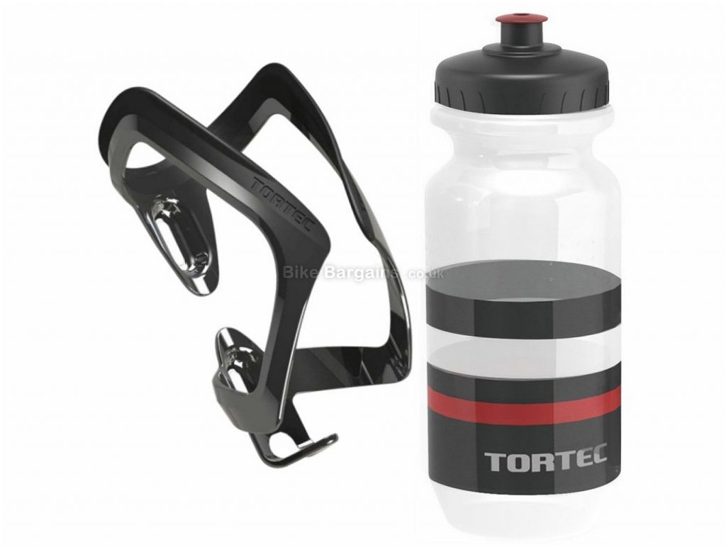 Tortec Air Bottle Cage With Tortec Jet Bottle 710ml, Black, Red