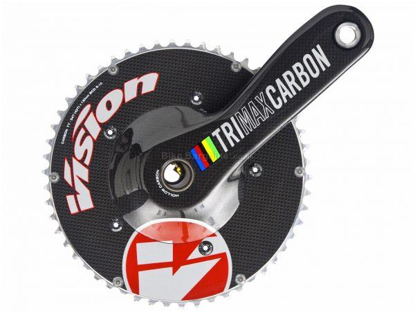 Vision Trimax Carbon TT MegaExo Chainset 170mm, 177.5mm, Black, Carbon, Double Chainring, 11 Speed