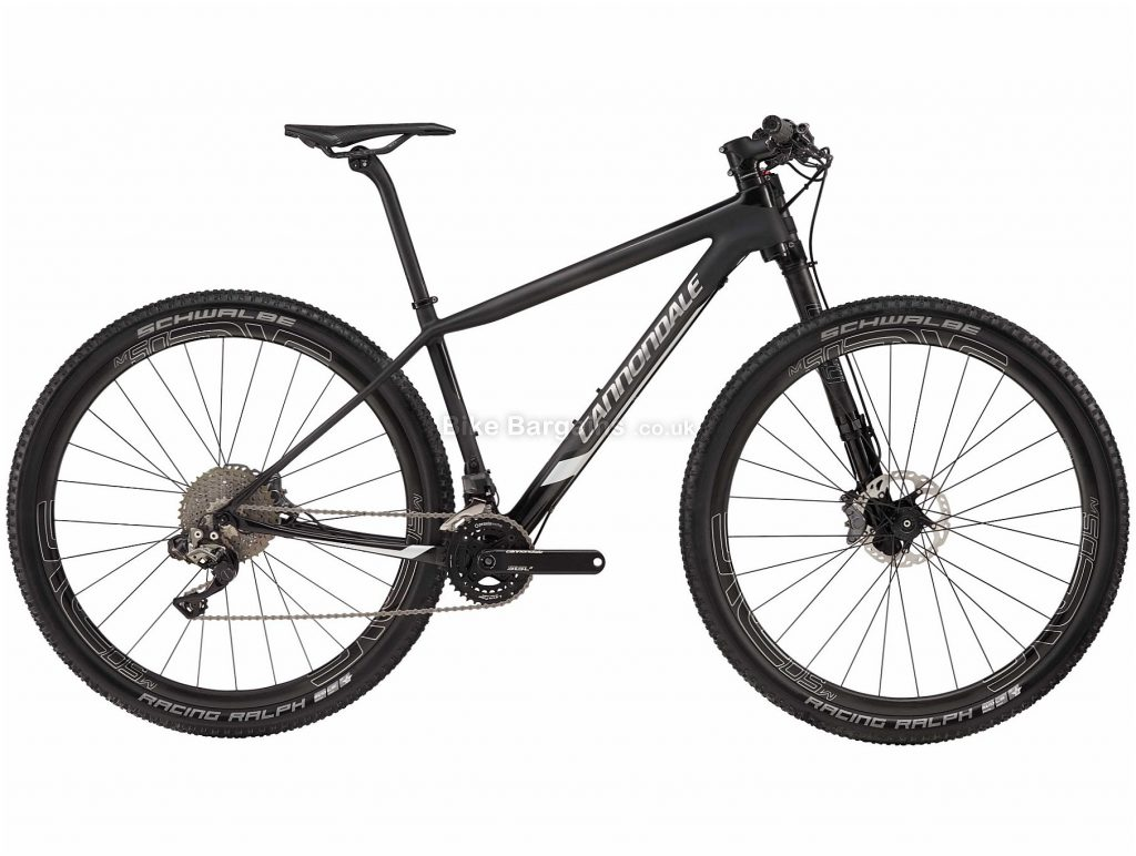 "Cannondale F-Si Hi-Mod Black Inc 29"" Carbon Hardtail Mountain Bike 2018 L, Black, 29"", Carbon, 22 Speed"