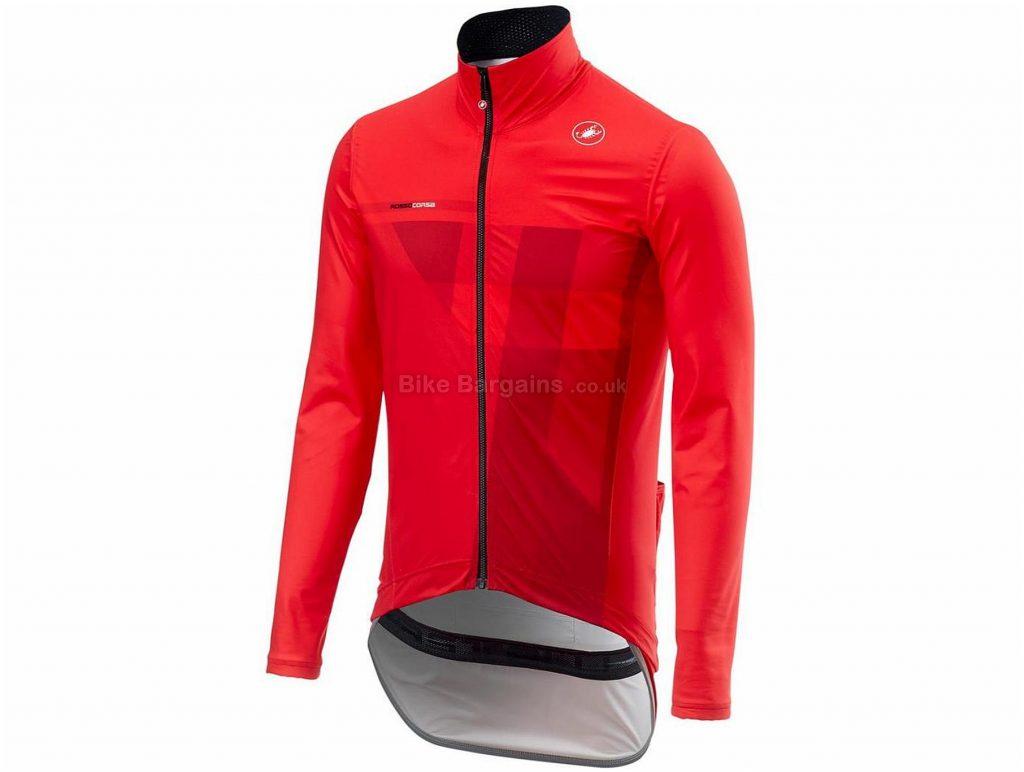 Castelli Pro Fit Light Rain Jacket 2018 S, Red