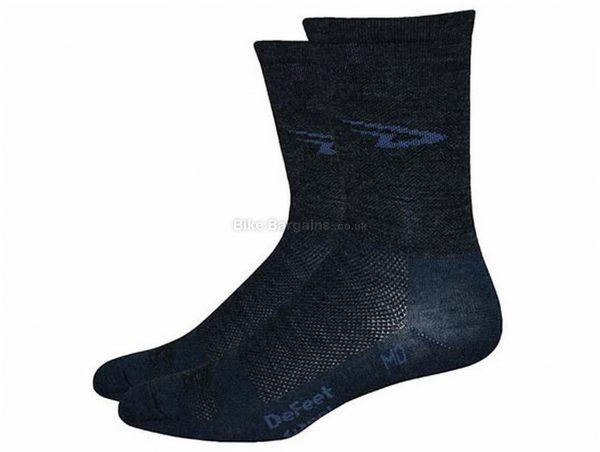 "Defeet WoolEator 5"" D-Logo Socks S, Black"