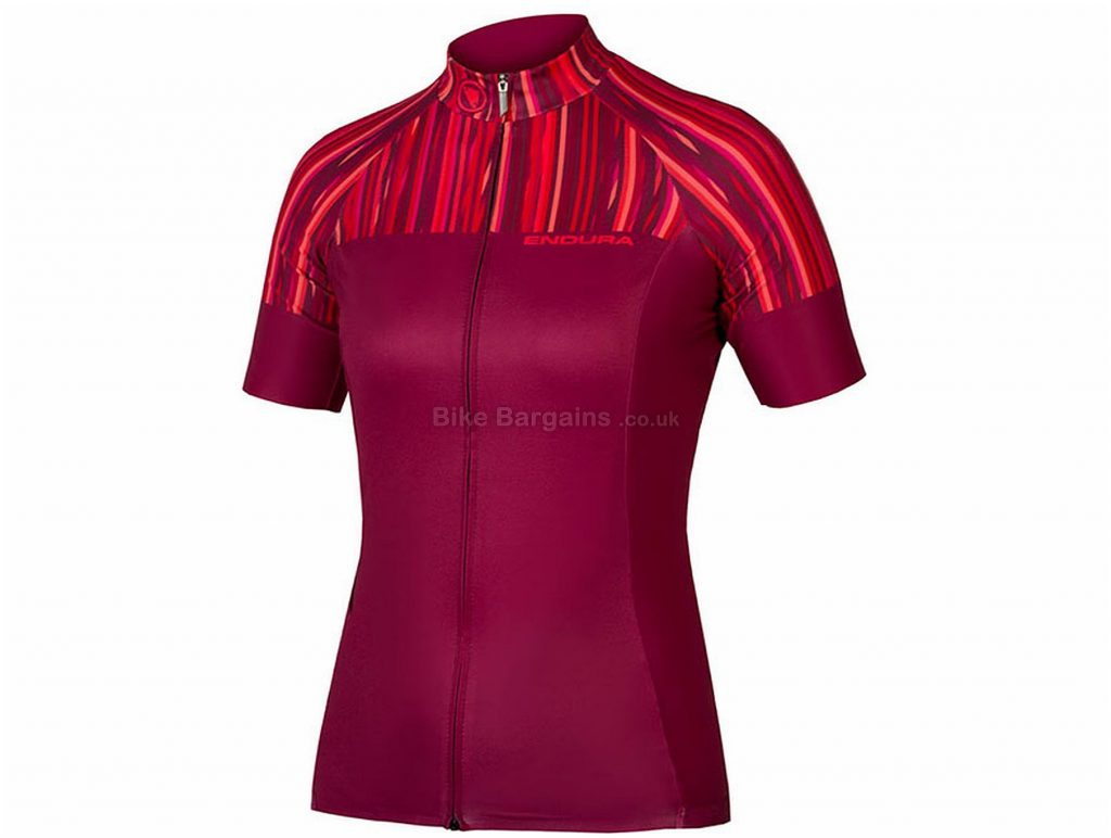 Endura Ladies Pinstripe Limited Short Sleeve Jersey S, Pink