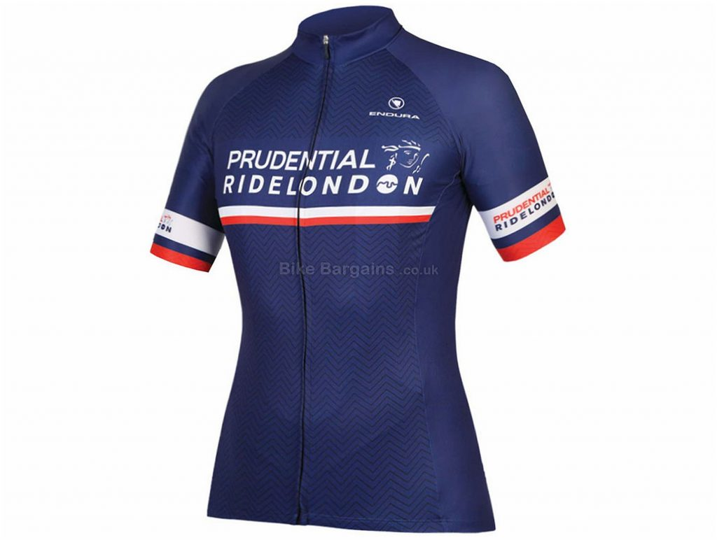Endura Prudential RideLondon Ladies Short Sleeve Jersey 2018 M, Blue