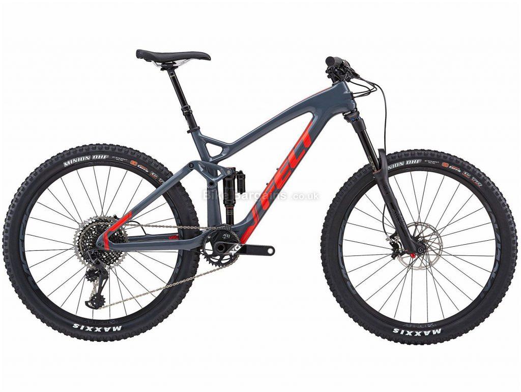 "Felt Decree 1 27.5"" Carbon Full Suspension Mountain Bike 2018 16"", Grey, 27.5"", Carbon, 12 Speed, 12.17kg"