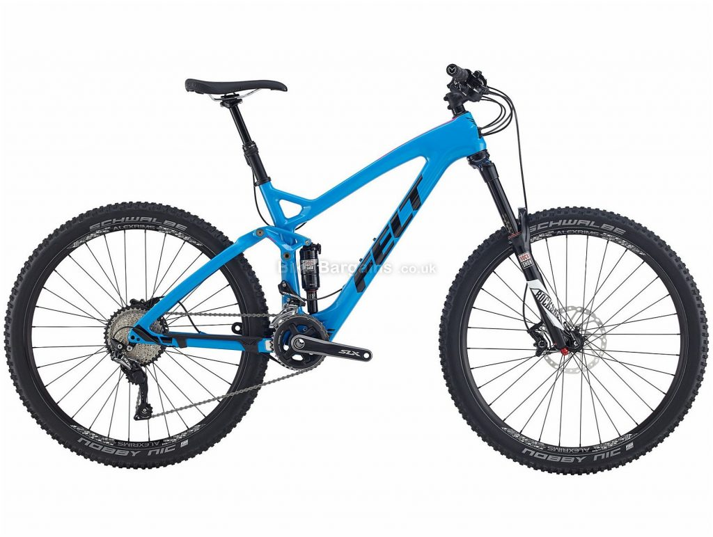 "Felt Decree 4 27.5"" Carbon Full Suspension Mountain Bike 2017 22"", Blue, 27.5"", Carbon, 22 Speed, 12.82kg"