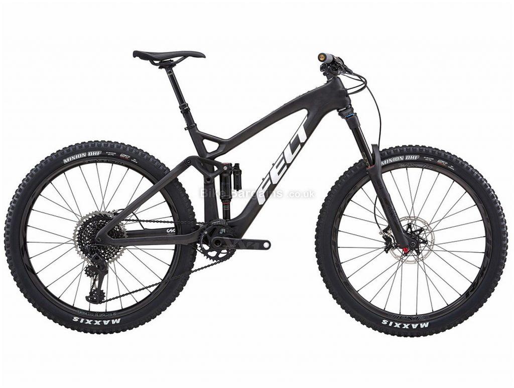 "Felt Decree FRD 27.5"" Alloy Full Suspension Mountain Bike 2018 18"", Black, 27.5"", Alloy, 12 Speed"