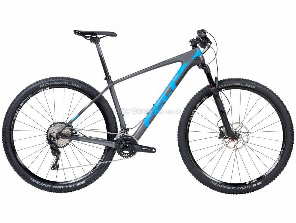 "Felt Doctrine 4 XC 29"" Carbon Hardtail Mountain Bike 2018 14"", Grey, Blue, 29"", Carbon, 22 Speed, 10.68kg"