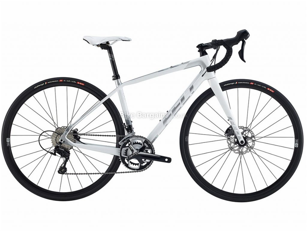 Felt VR5W Disc Ladies Carbon Road Bike 2018 54cm, White, 700c, Carbon, 22 Speed
