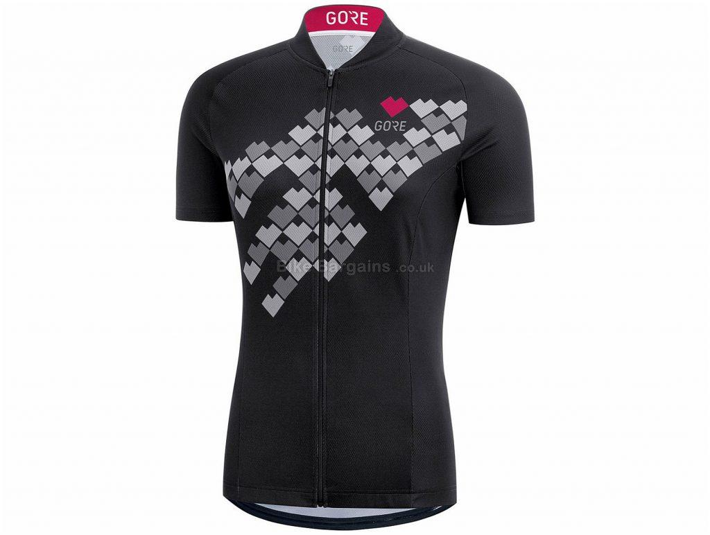 Gore C3 Ladies Digi Heart Short Sleeve Jersey 40, Black