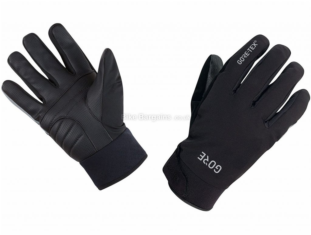 Gore C5 Gore-Tex Thermo Full Finger Gloves XL, Black, Yellow