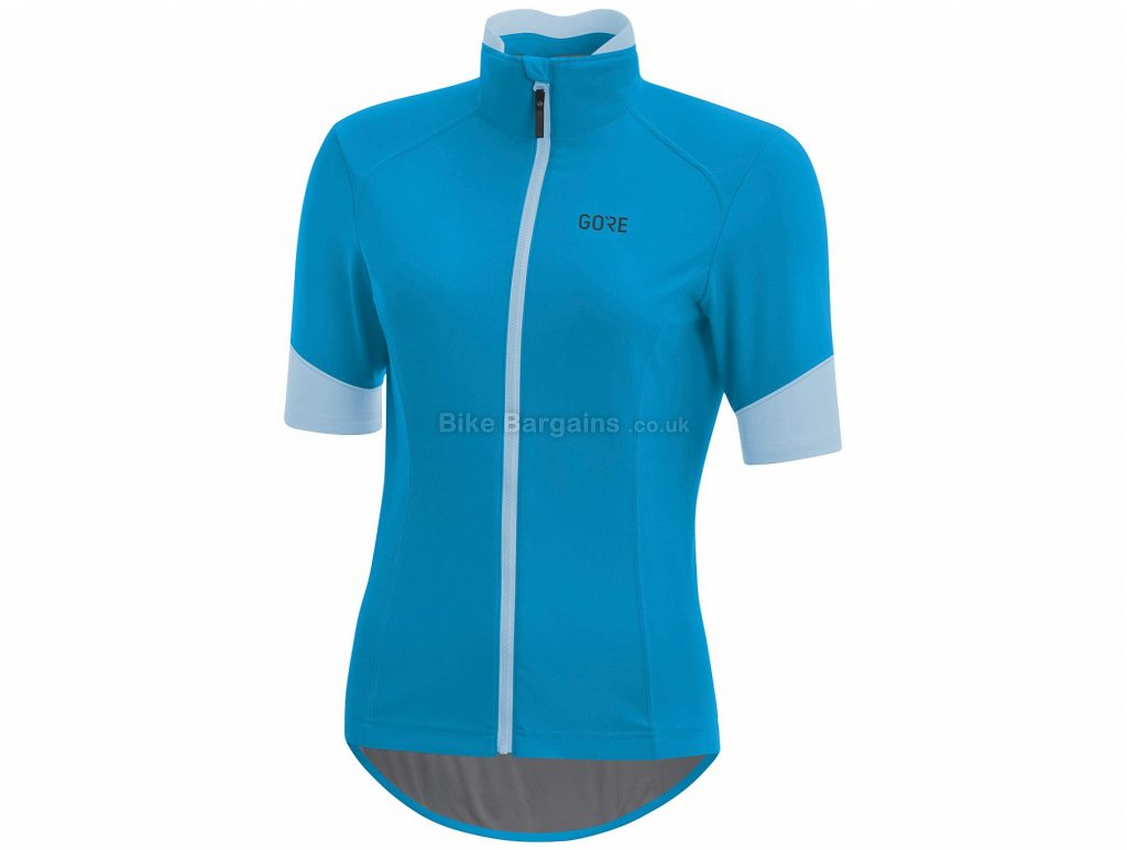 Gore C5 Ladies Windstopper Short Sleeve Jersey 40, Red, Blue