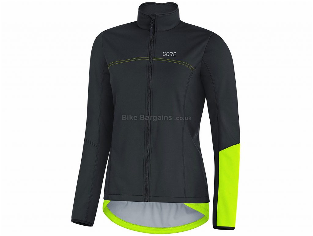 Gore Ladies C5 Windstopper Thermo Softshell Jacket 34, Black, Yellow, Red