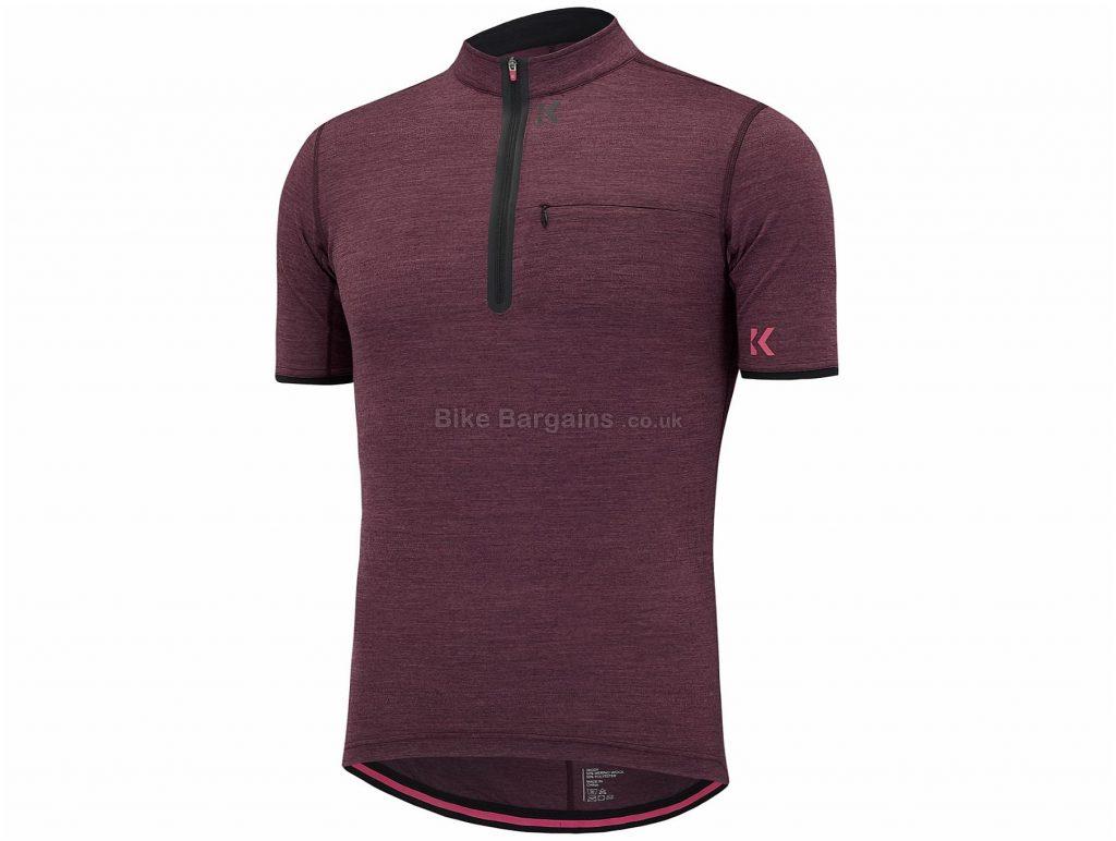 Kalf Terra Merino Short Sleeve Jersey XS,S,M,L,XL, Grey, Red