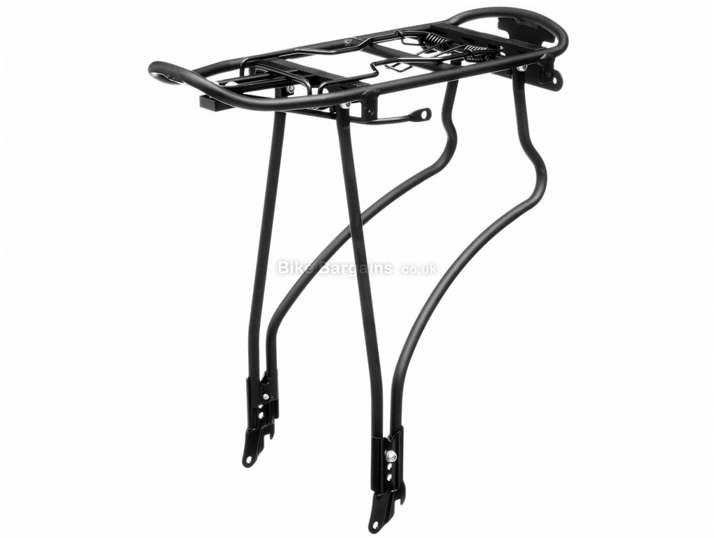 LifeLine Alloy Rear Pannier Rack 10mm, One Size, Black, 862g, Alloy