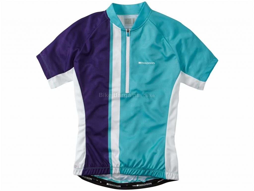 Madison Tour Ladies Short Sleeve Jersey 10, Blue, Red