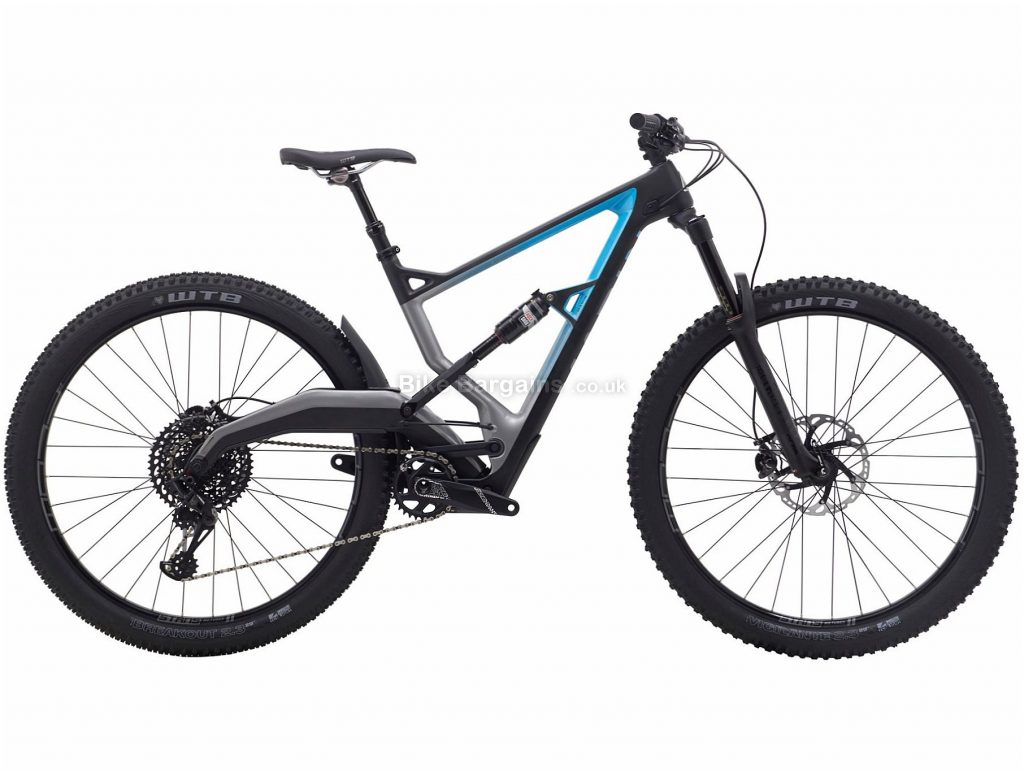 "Marin Wolf Ridge 8 29"" Carbon Full Suspension Mountain Bike 2019 S, Black, Grey, 29"", Carbon, 12 Speed"