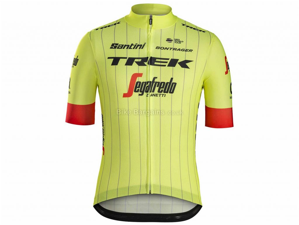 Santini Trek-Segafredo Short Sleeve Jersey 2018 XS,M,L,XL, Red, Yellow