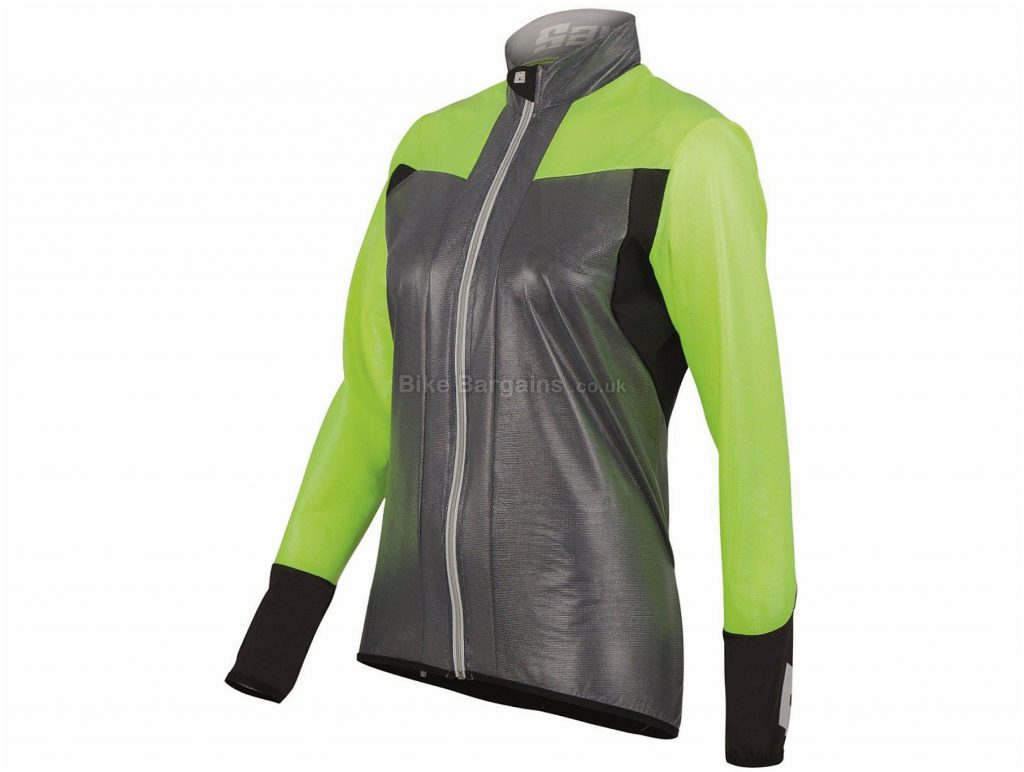 Santini Velo Windbreaker Ladies Jacket XL, Grey, Yellow