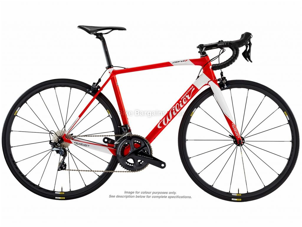 Wilier Zero7 Ultegra Carbon Road Bike 2019 M, Red, White, 700c, Carbon, 22 Speed
