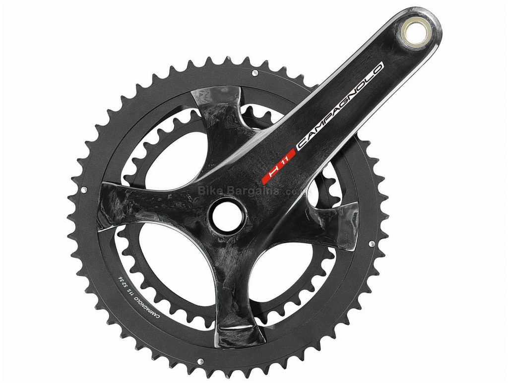 Campagnolo H11 Ultra Torque 11 Speed Double Chainset 170mm, 172.5mm, 175mm, Black, 11 Speed, Double, 603g, Road