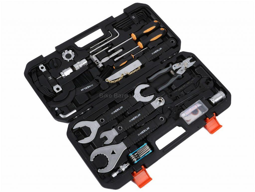 Merlin Cycles 31 Piece Tool Kit 2, 2.5, 3, 4, 5, 6, 8, 13, 14, 15, 16mm, Steel, Silver, Black, Orange