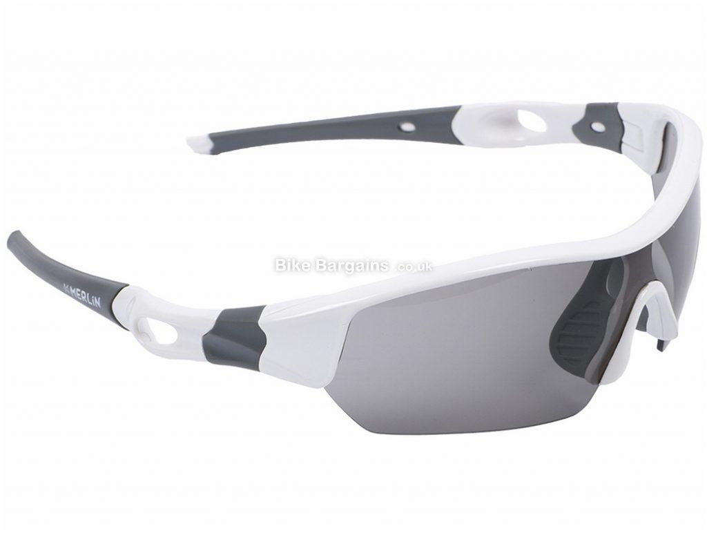 Merlin Cycles Sport Sunglasses Plastic, Rubber, White