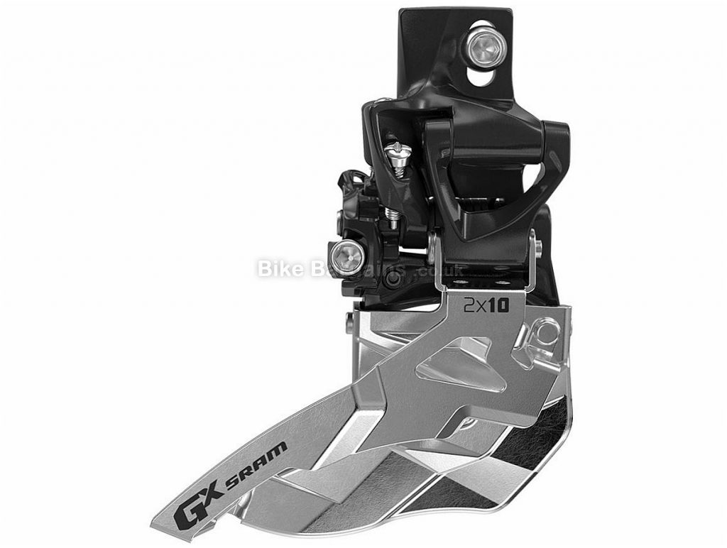 SRAM GX 11 speed Double Front Derailleur Alloy, 11 speed, Double, Black, Silver, High Direct, 123g