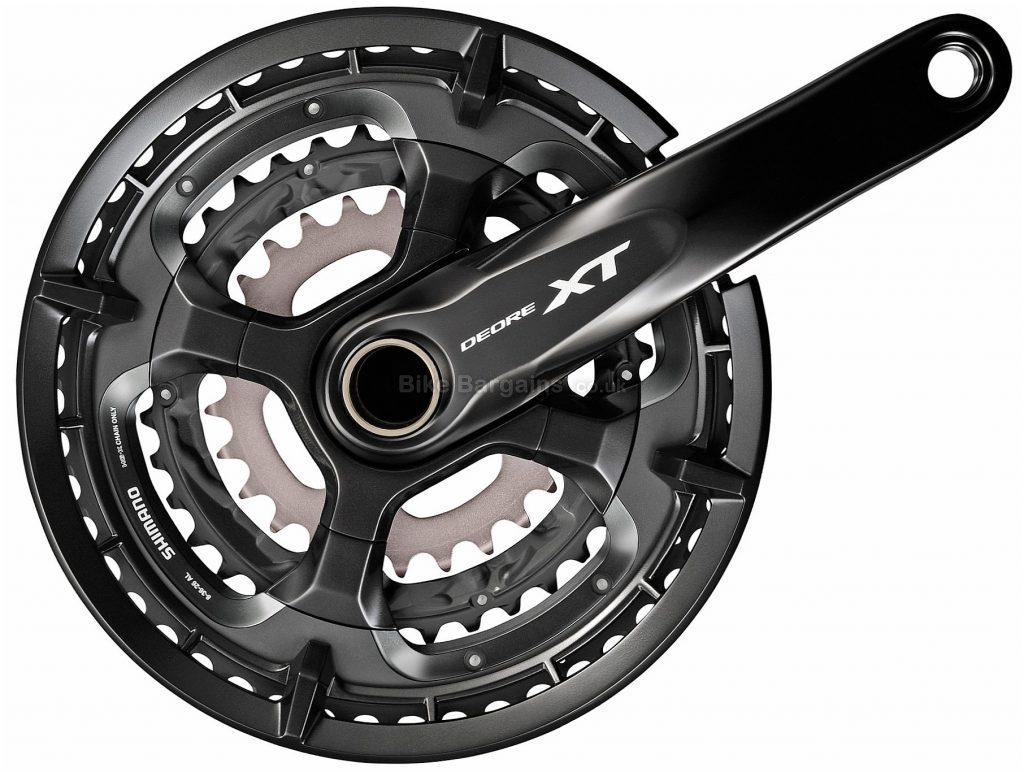 Shimano Deore XT T8000 10 Speed Triple Chainset 170mm, 175mm, Silver, Black, 10 Speed, Triple, 868g, MTB
