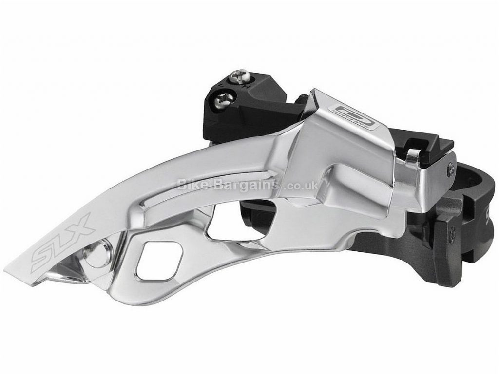 Shimano SLX M670 10 speed Triple Front Derailleur Black, Silver, 34.9mm, Band On, Alloy, 10 speed, Dual Pull, Triple, 281g