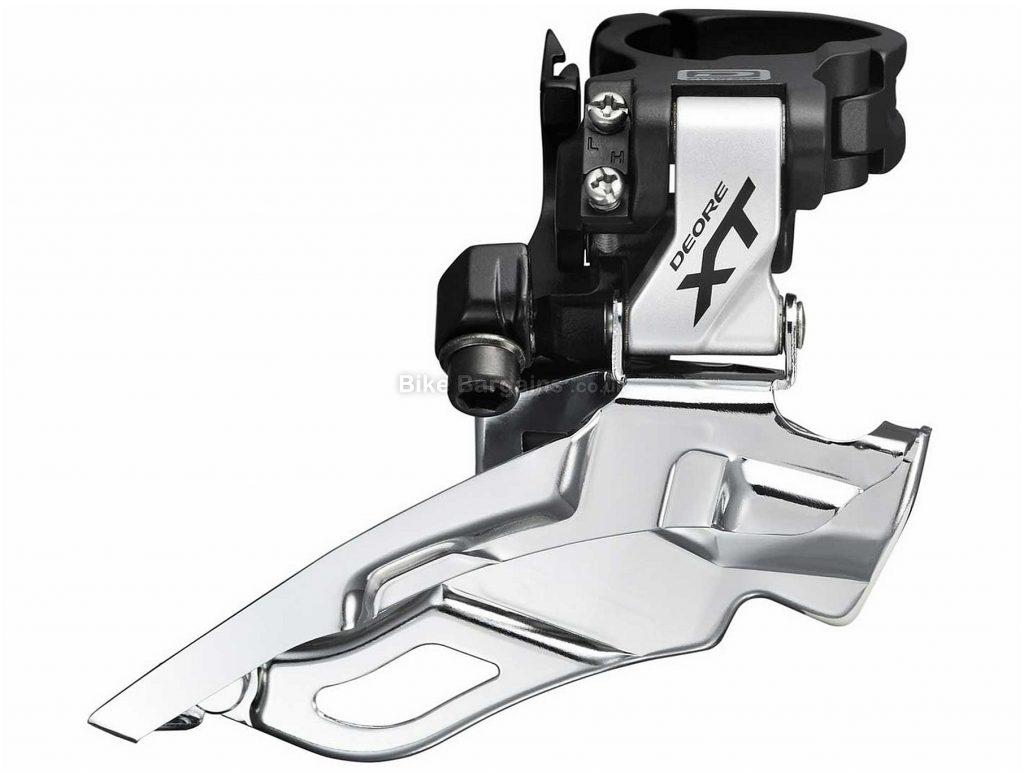 Shimano XT M871 10 speed Triple Front Derailleur Silver, Black, 10 Speed, Triple, Band on, Alloy
