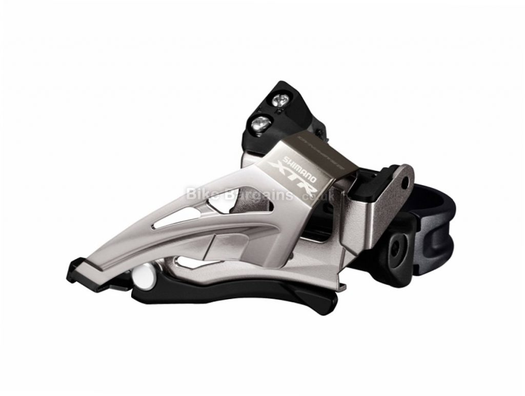 Shimano XTR M9025 Top Swing 11 speed Double Front Derailleur Silver, Black, Double, 11 speed, Top Swing, 124g