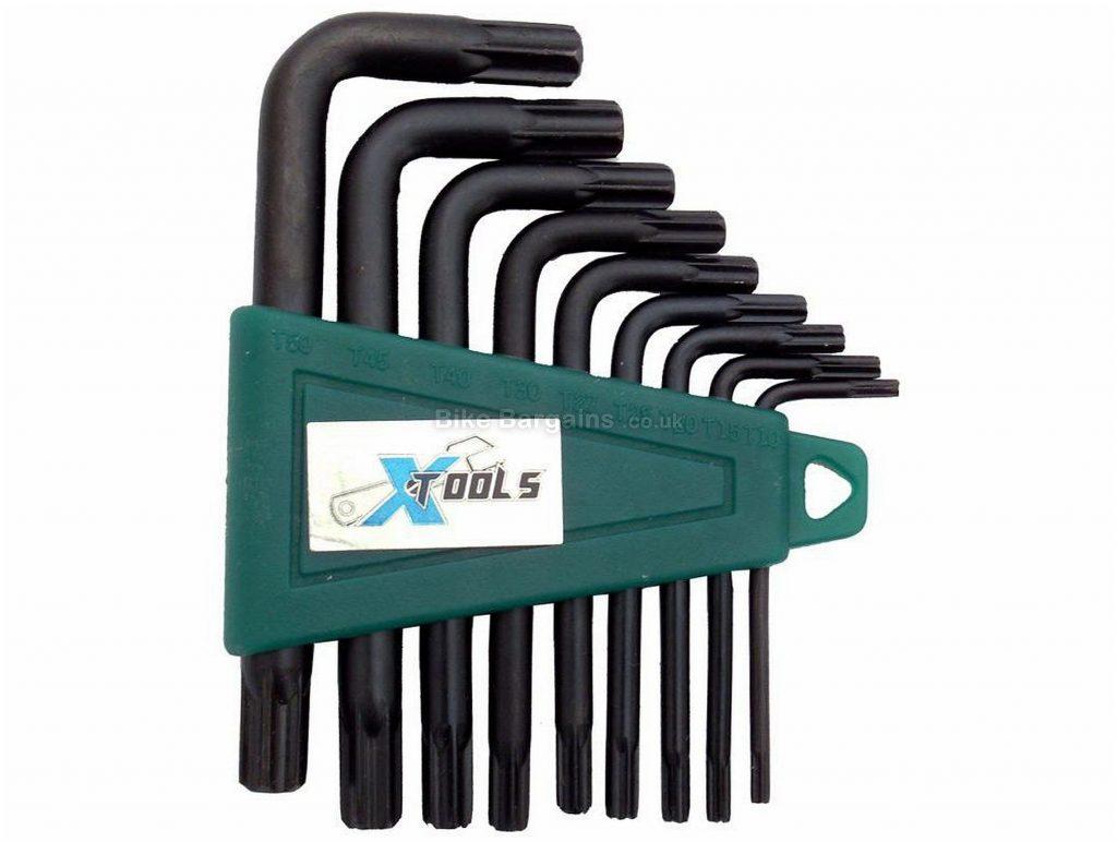 X-Tools Torx Star Key X 9 Set Steel, Plastic, Black, Green, Torx Keys
