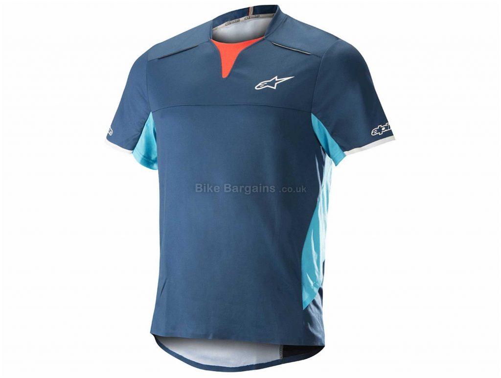 Alpinestars Drop Pro Short Sleeve Jersey S, Blue