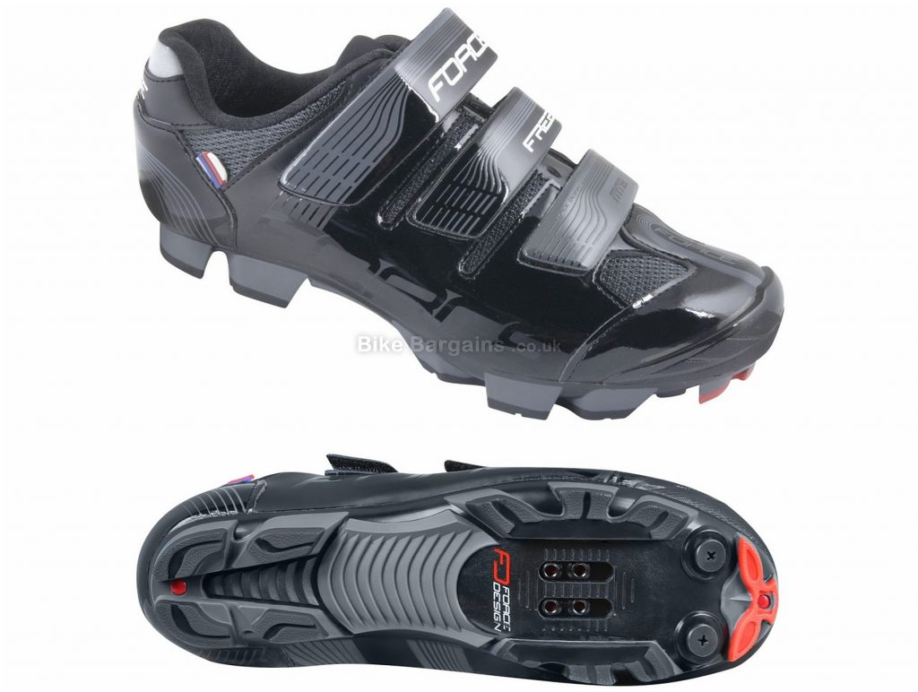 Force Free MTB Shoes 40,41,42,43,44,45,46,47,48, Black, Velcro, Nylon