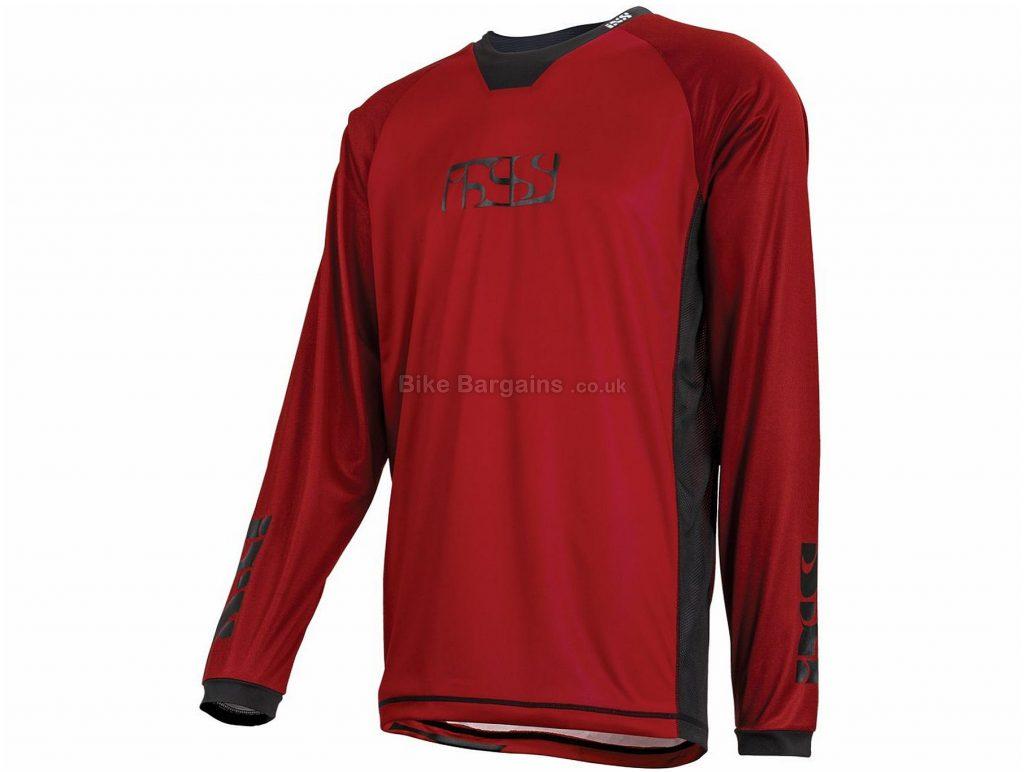 IXS Pivot 7.2 Long Sleeve Jersey 2017 L, Red, Blue