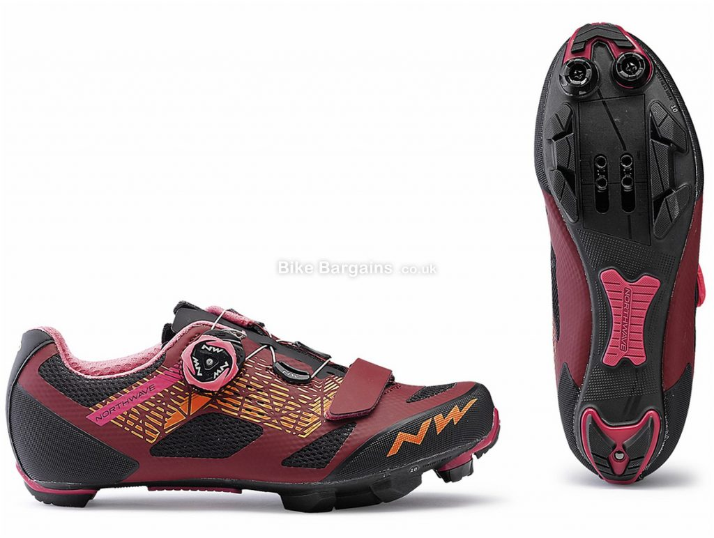 Northwave Razer Ladies MTB Shoes 2019 38, Red, Black, Boa, Velcro, Nylon