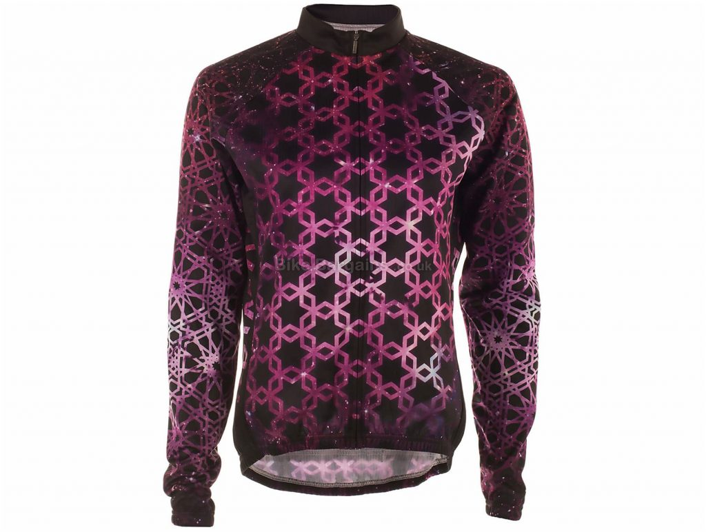 Primal Vespere Heavyweight Ladies Long Sleeve Jersey L, Pink, Black