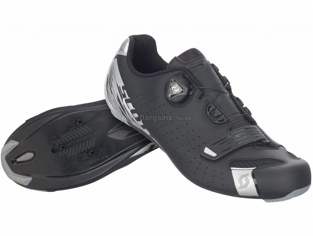 Scott Comp Boa Lady Road Shoes 36, Black, Silver, Boa, Velcro, 245g, Nylon