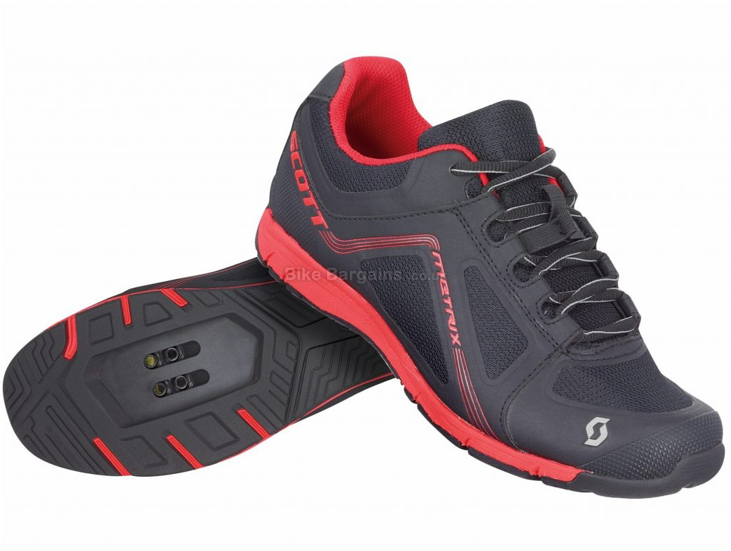 Scott Metrix Ladies Sport MTB Shoes 36, Black, Red, Laces, 350g, Nylon