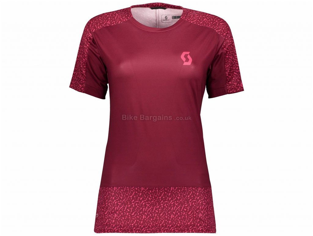 Scott Trail 20 Ladies Short Sleeve Jersey M,L, Red