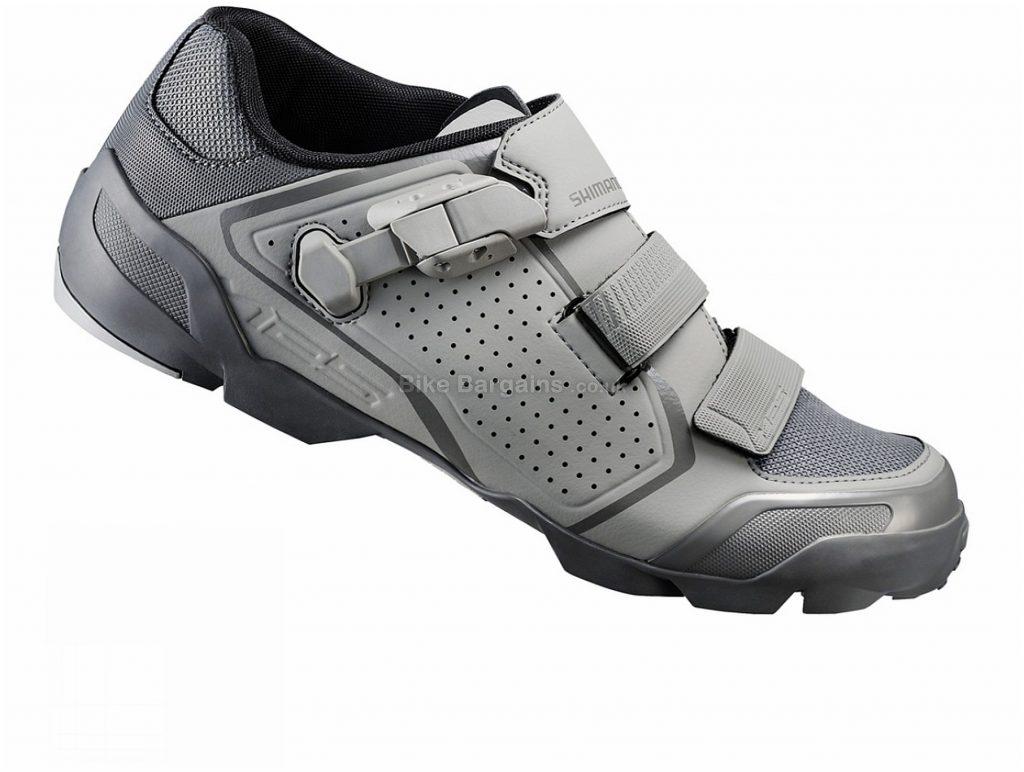 Shimano ME5 SPD MTB Shoes 40, Grey, Buckle, Velcro, 770g, Carbon