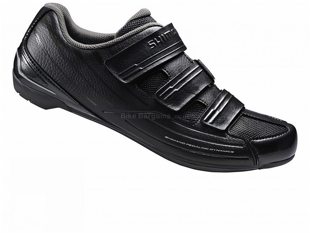 Shimano RP200 SPD-SL Road Shoes 42, Black, Velcro, 505g, Nylon