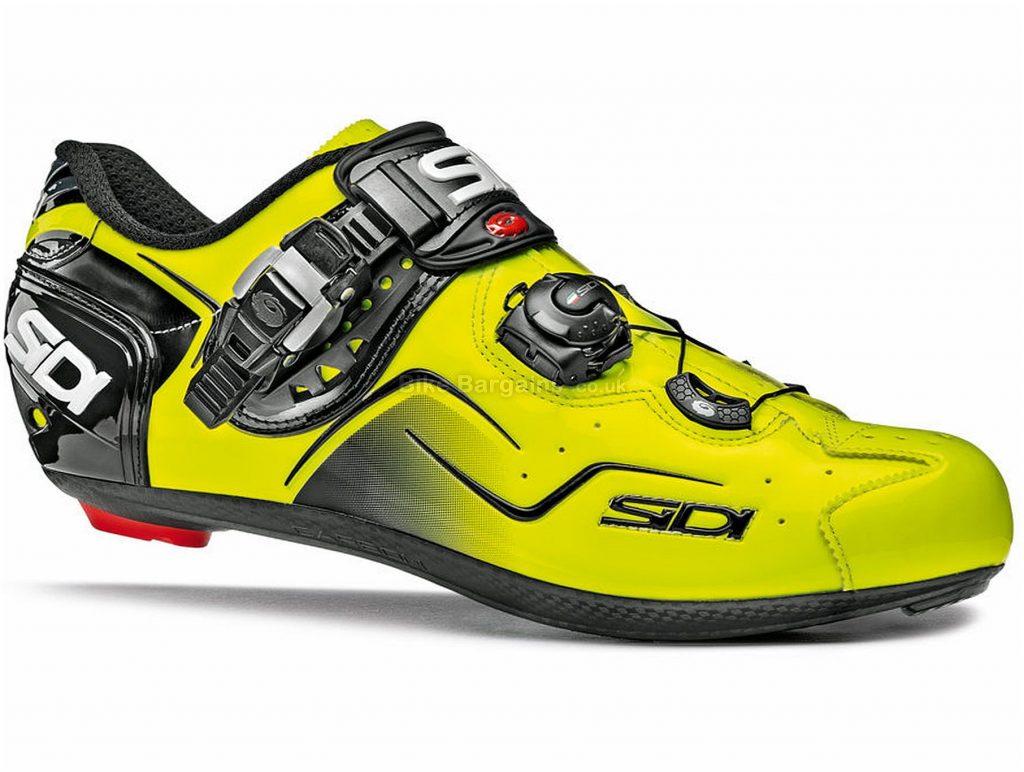 Sidi Kaos Road Shoes 38, Yellow, Black, Boa, Buckle, Carbon