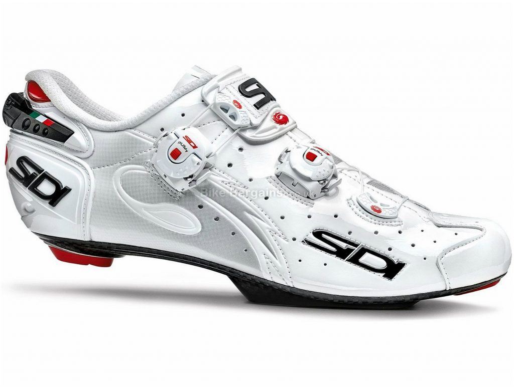 Sidi Wire Carbon Speedplay Vernice Road Shoes 38,39, White, Boa, Buckle, Carbon