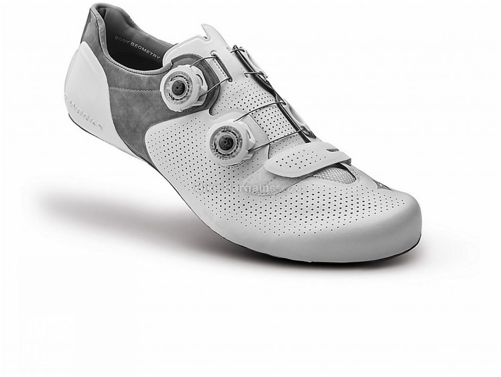 Specialized Ladies S-Works 6 Road Shoes 41, White, Velcro, Boa, Carbon