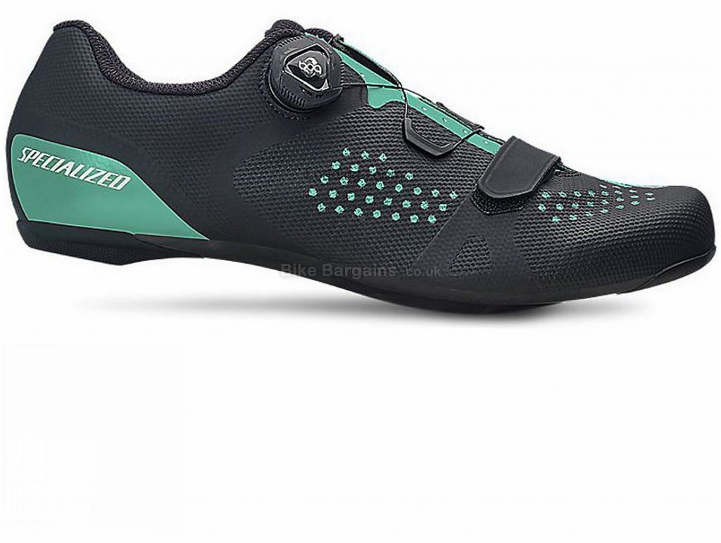 Specialized Torch 2.0 Ladies Road Shoes 41, Black, Green, Velcro, Boa, 221g, Carbon