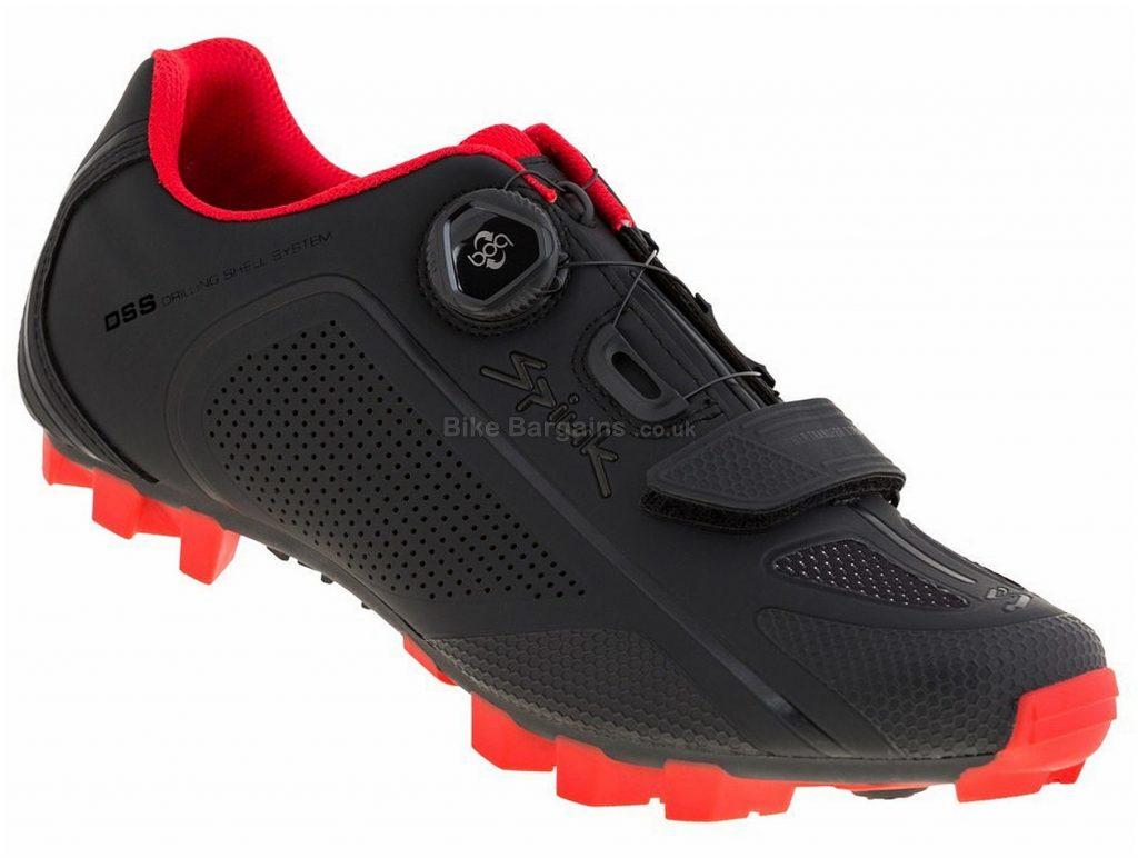 Spiuk Altube-M MTB Shoes 44, Black, Red, Pink, Boa, Velcro, Nylon