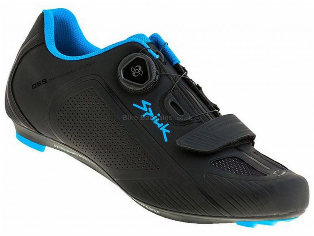 Spiuk Altube-R Road Shoes 45, Black, Blue, Boa, Velcro, Nylon
